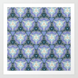 Lilac Triangles Art Print