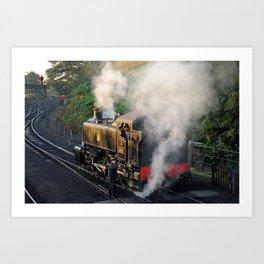Train Driver's early morning start Art Print