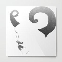 horns. Metal Print