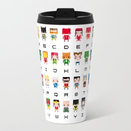 Superhero Alphabet Travel Mug