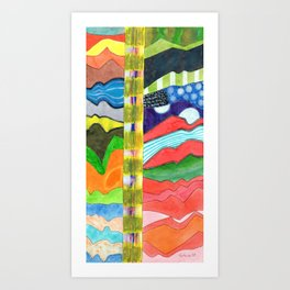 Two vertical Landscapes in High Format Art Print
