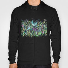 Little Garden Birds in Watercolor Hoody