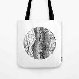 Ponderosa Pine- Tree Bark Circle Tote Bag