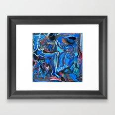 The Blue Cadaver Framed Art Print