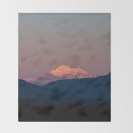 Sunset on Mount Baker Throw Blanket