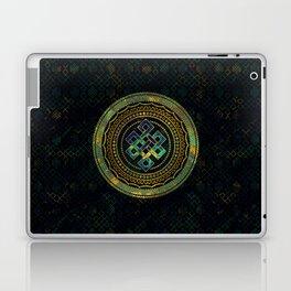 Marble and Abalone Endless Knot  in Mandala Decorative Shape Laptop & iPad Skin