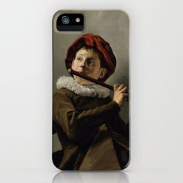 """Judith Leyster """"Boy playing the Flute"""" iPhone Case"""