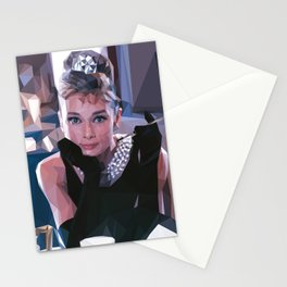 'Audrey Hepburn' Low Poly Triangle Artwork Art Print Stationery Cards