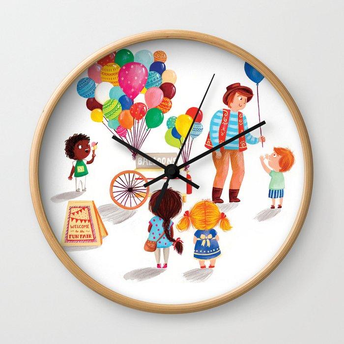 Balloon Stand Wall Clock