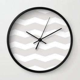 Gray waves Wall Clock