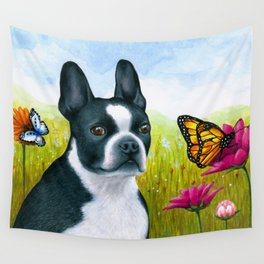 Boston Terrier Dog Wall Tapestry