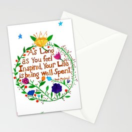 Live an Inspired Life Stationery Cards