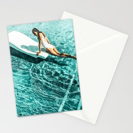 Pool Day #society6 #painting #summer Stationery Cards