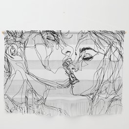 kiss more often (B & W) Wall Hanging
