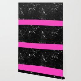 Pink Meets Black Marble #1 #decor #art #society6 Wallpaper