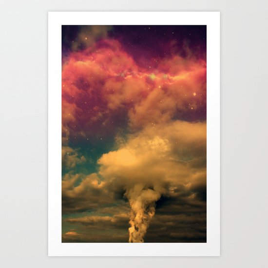 Space Clouds Art Print