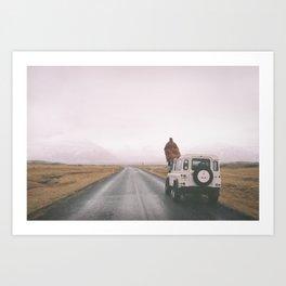 Road trip to nowhere Art Print