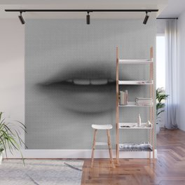 Halftone Lips Wall Mural