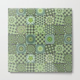 Green Valley Quilt Metal Print