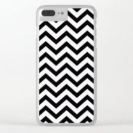 Simple Chevron Pattern - Black & White - Mix & Match with Simplicity Clear iPhone Case