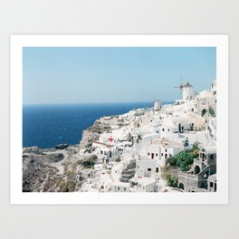 Oia, Santorini Art Print