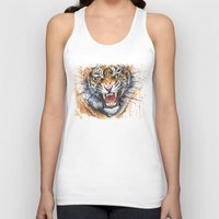 kpop Tank Tops featuring Tiger by Olechka