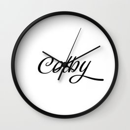 Name Colby Wall Clock
