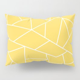 White Mosaic Lines On Mustard Yellow Pillow Sham
