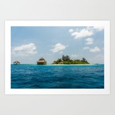 Maldives - in the middle of nowhere  Art Print