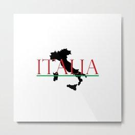 Italia & Italian Boot Metal Print