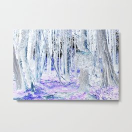 Meet Me In The Woods With The Purple Flowers Metal Print