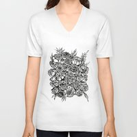 wedding V-neck T-shirts featuring Wedding Flowers  by Felicia Atanasiu