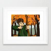 robin hood Framed Art Prints featuring Robin Hood by Irate Lobster Art