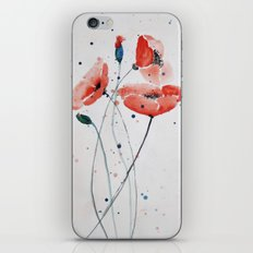 Poppies no 2 iPhone & iPod Skin