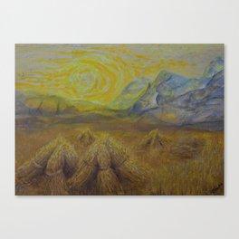 Vincents yellow Canvas Print