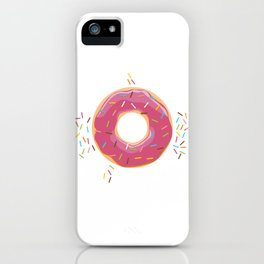 Funny Donut Shirt sweet candy glazed doughnut iPhone Case