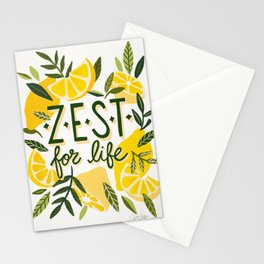 Zest for Life – Yellow & White Palette Stationery Cards