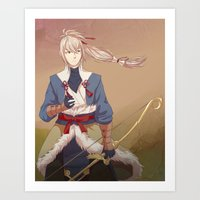 fire emblem Art Prints featuring Fire Emblem Fates Takumi by Cycha