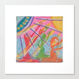 """Alien Worship"" (7138) Canvas Print"