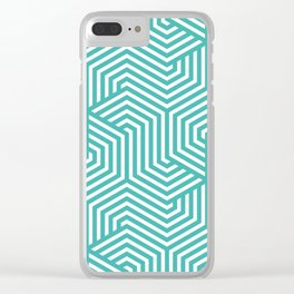 Verdigris - blue - Minimal Vector Seamless Pattern Clear iPhone Case