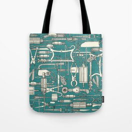 fiendish incisions blue Tote Bag