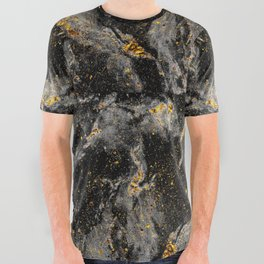 Galaxy (black gold) All Over Graphic Tee