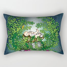 Water Baby Rectangular Pillow