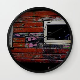 Battered old House Boat Wall Clock
