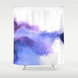 Purple Sky, White Light - abstract Shower Curtain