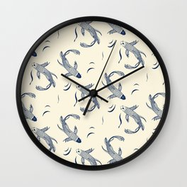 Japanese Koi Fish Pattern Wall Clock