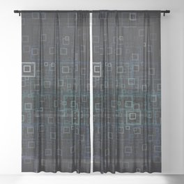 Midnight Square Sheer Curtain