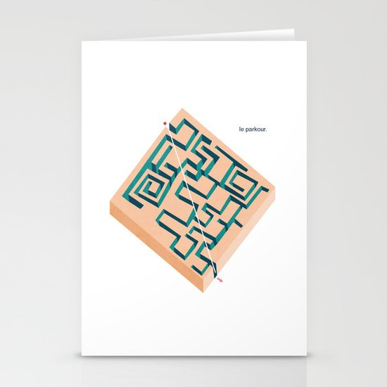 Le Parkour Stationery Cards