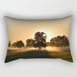 Beautiful Sunrise Landscape Rectangular Pillow