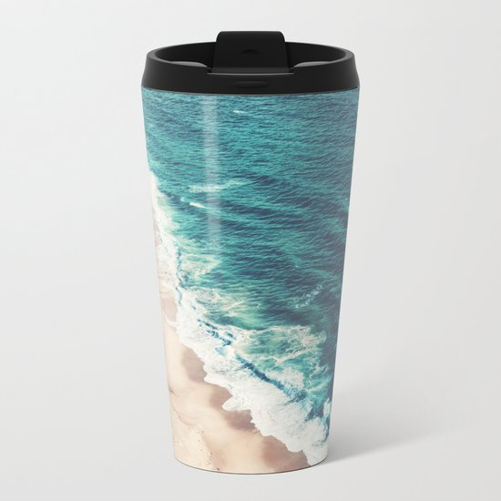 Beach Nazare Metal Travel Mug
